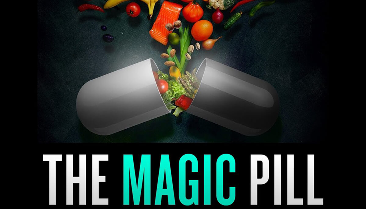 """Cover of """"The Magic Pill"""" documentary."""