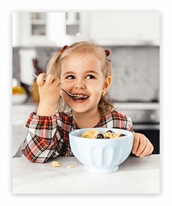 Get helpful tips to create and maintain a healthy breakfast for kids.
