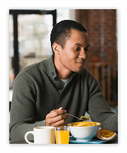 Get helpful tips to create and maintain a healthy breakfast for adults.