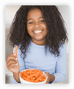 Snack opportunities can be used to improve eating habits in kids.