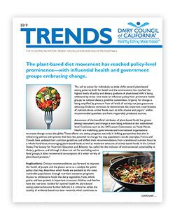 Top food and nutrition trends for education and health professionals.