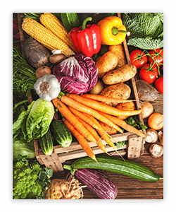 Foods in the vegetable food group offer a unique package of nutrients.