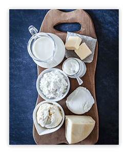 Cheese, milk and yogurt play a role in a healthy eating pattern.