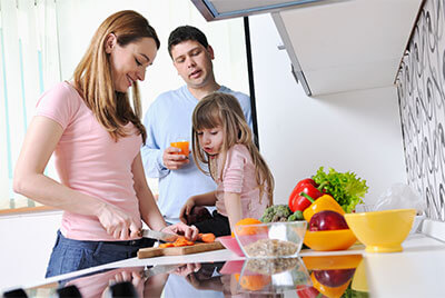 Healthy eating for your family can be achieved through making healthy choices.