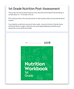 Use our online surveys to gauge students' knowledge before + after a lesson.