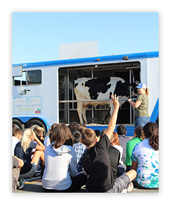 The Mobile Dairy Classroom teaches students where milk comes from.