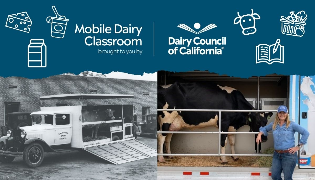 The Mobile Dairy Classroom is offered free to California schools.