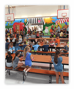 Healthy options in the cafeteria is a way to practice healthy eating.