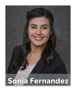 Connect with Sonia Fernandez today.